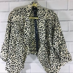 Torrid Lightweight Animal Print Open Jacket Size 2